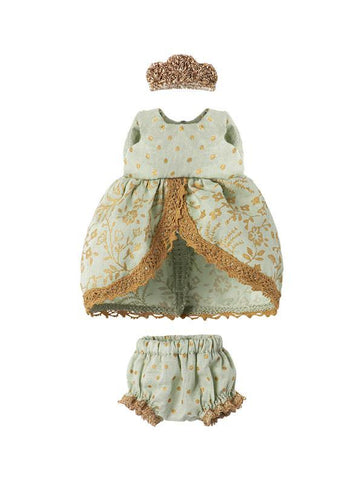 Maileg Micro Bunny & Mouse Mint Princess Dress
