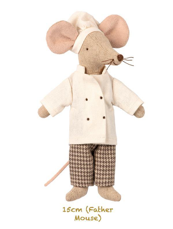 Maileg Chef Mouse - Father Mouse Size (15cm) 16-9745-00