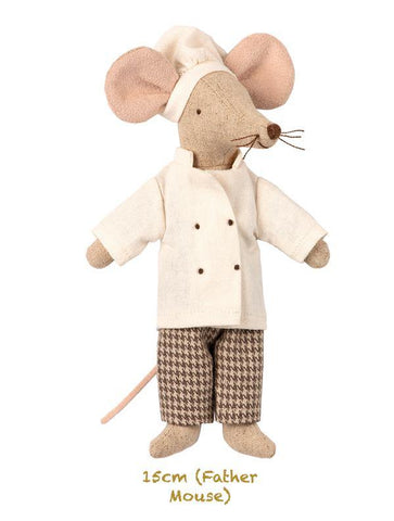 Maileg Chef Mouse - Father Mouse (15cm)