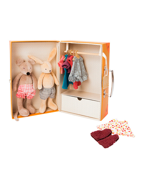 Moulin Roty La Grande Famille Little wardrobe suitcase (632401)