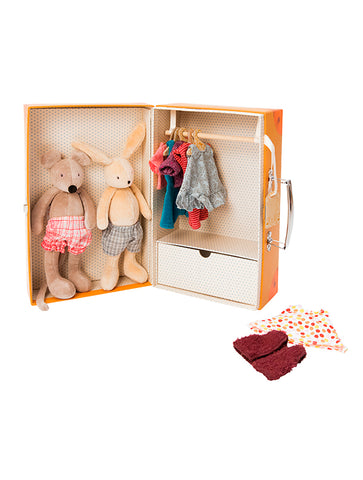Moulin Roty La Grande Famille Little wardrobe suitcase