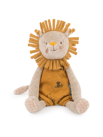 Moulin Roty Sous Mon Baobab Paprika Musical Lion Soft Toy (669041)