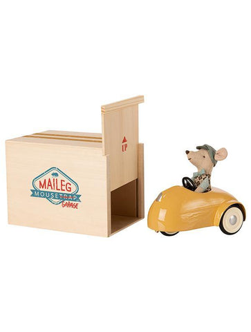 Maileg Mouse Car with Garage - Yellow (16-0727-01)