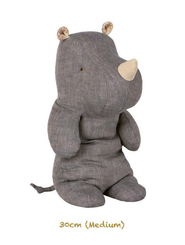 Maileg Safari Friends Medium Rhino Blue (30cm) (16-9928-00)