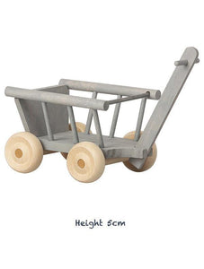 Maileg Micro Wooden Wagon -Mint/Grey