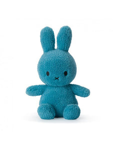 Miffy Sitting - Terry Ocean Blue Soft Toy