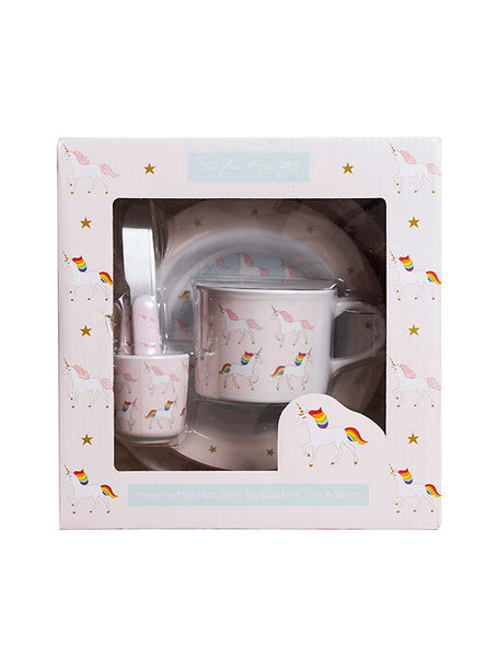 Sophie Allport Unicorn Kids Melamine Dinner Set