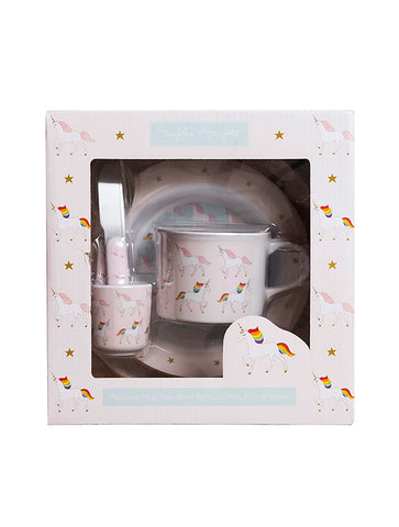 Sophie Allport Unicorn Kids Melamine Dinner Set (MCS5501)