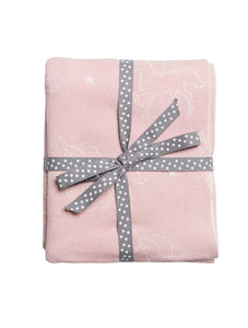 Sophie Allport Unicorn Pink Cotton Baby Blanket