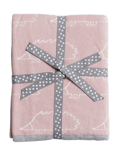 Sophie Allport Woodland Party Pink Hedgehog Cotton Baby Blanket (KC23701)