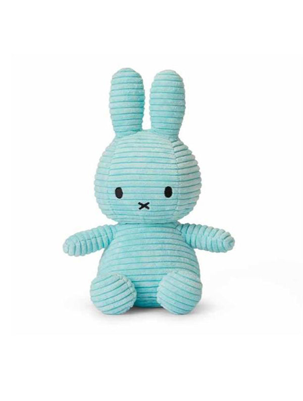 Miffy Corduroy - Turquoise Soft Toy Rabbit