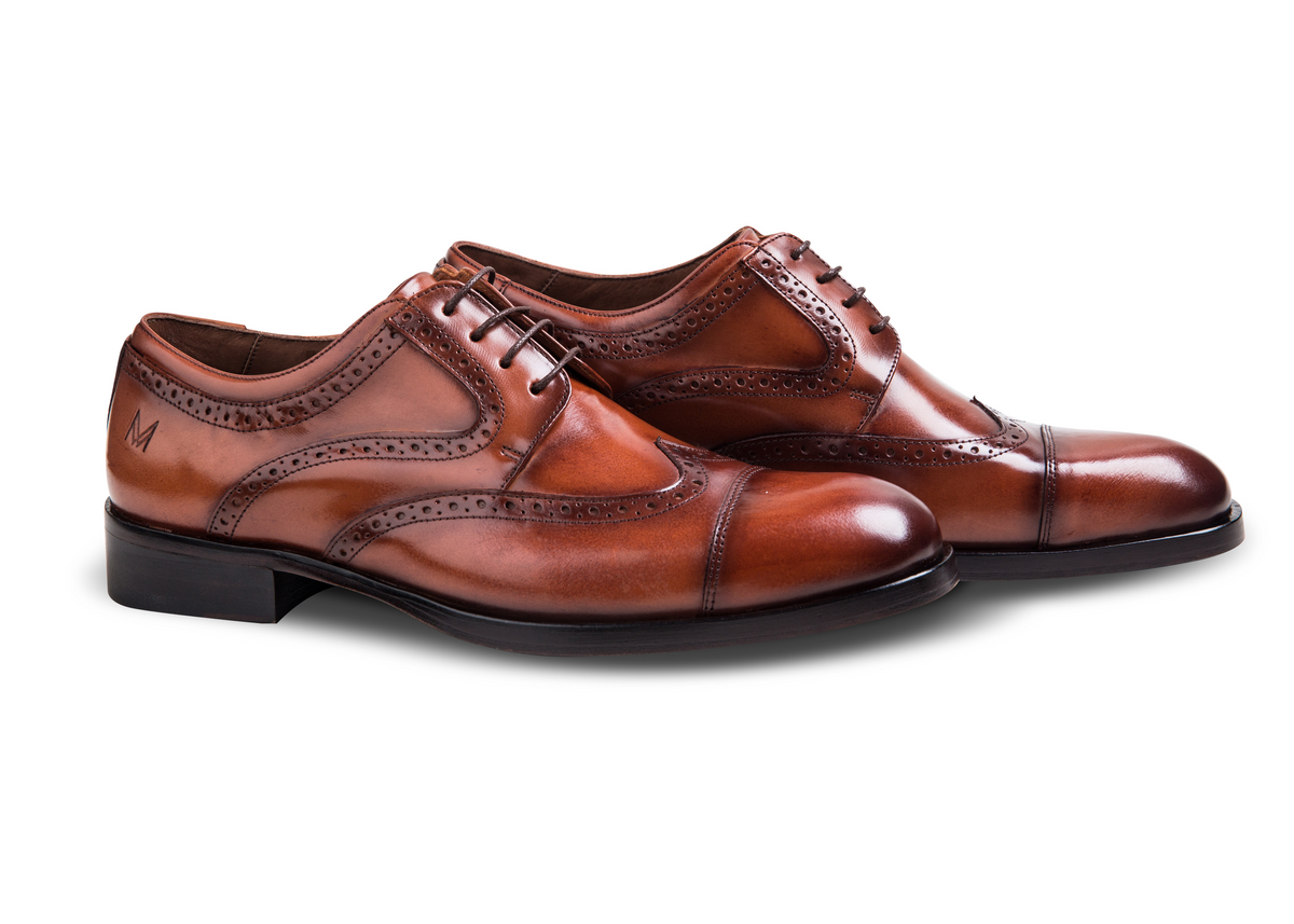 Oxford Brogue Conhaque