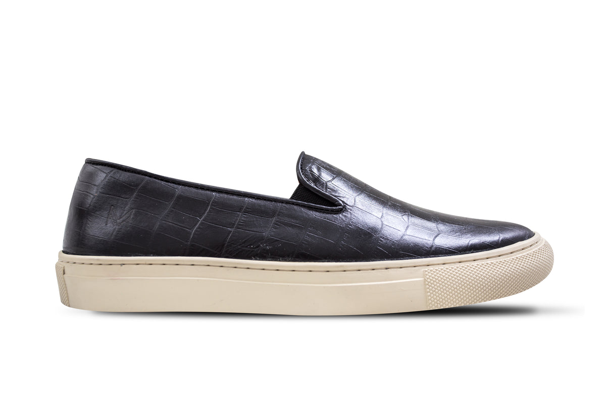 Slip On Croco Preto