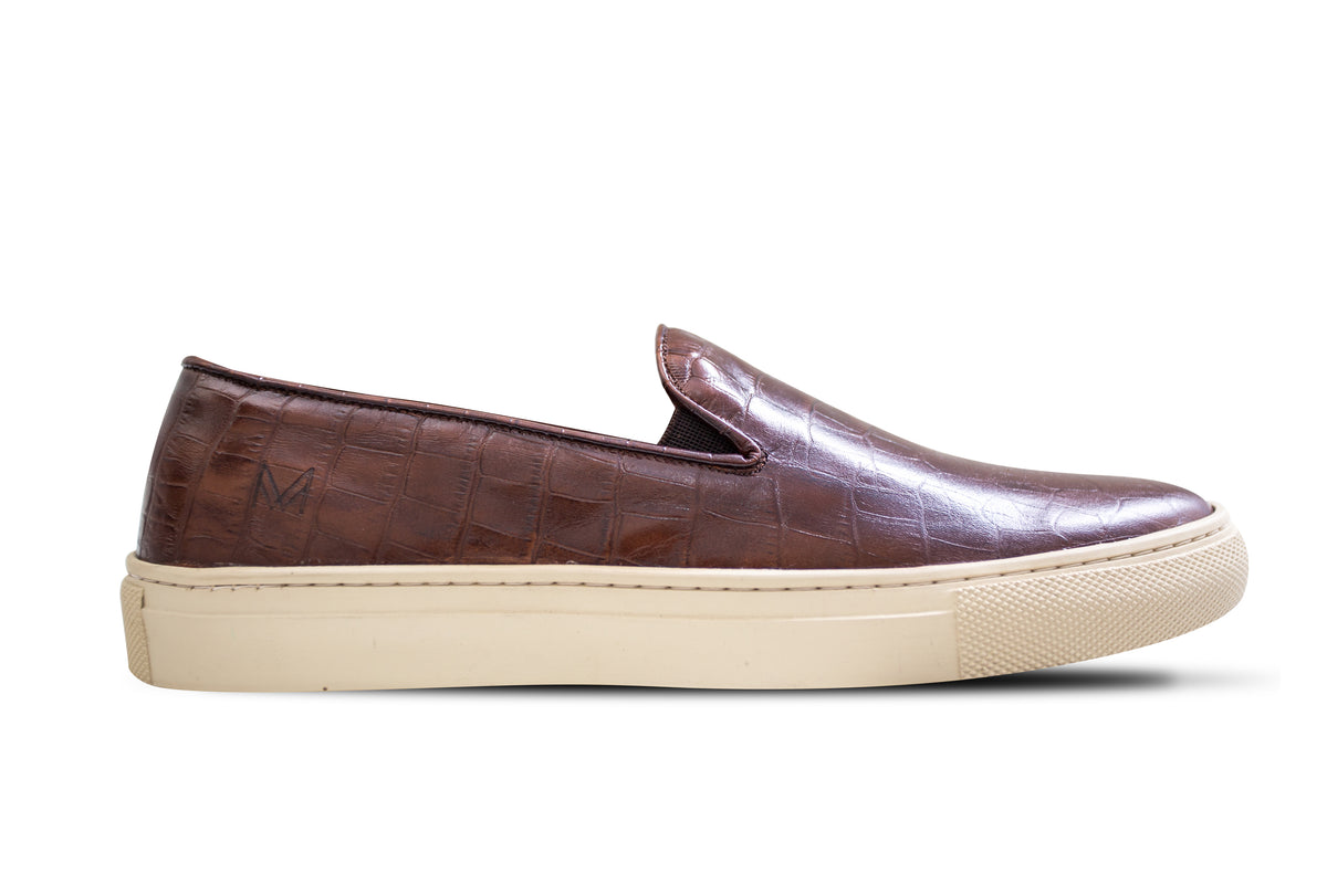 Slip On Croco Café