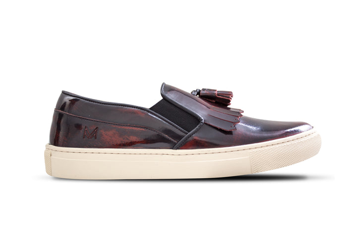 Slip On Franjas Burgundy