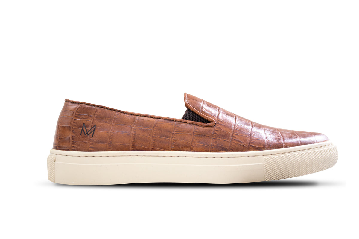 Slip On Croco Conhaque