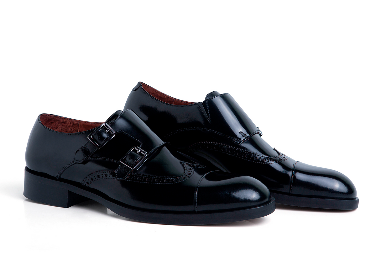 Monk Strap Brogue Preto