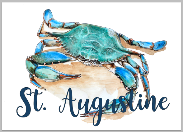 Blue Crab of St. Augustine