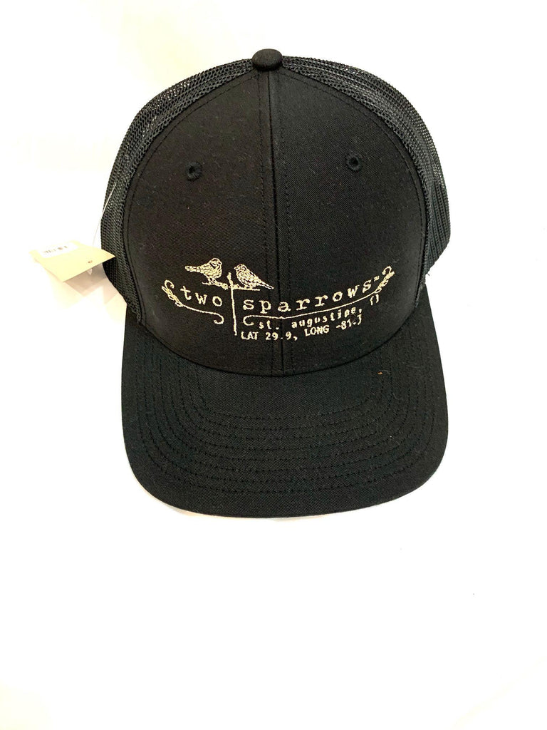 Two Sparrows Hat -Black Mesh