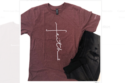 Faith Cross Tees Maroon