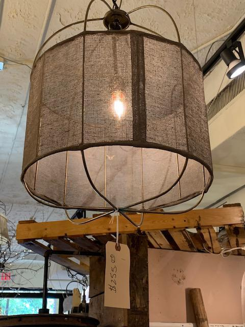 Drum Light with Fabric Overlay