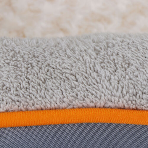 Dog Bed Memory Foam with Removable/Washable Cover and Squeaker Toy