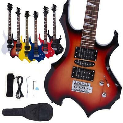Flame Type Beginner Electric Guitar Complete Guitar Setup