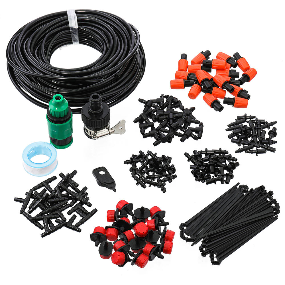 Skyorium™ Automatic Drip Irrigation Plant Watering Kit Mist Cooling Irrigation System for Garden Greenhouse