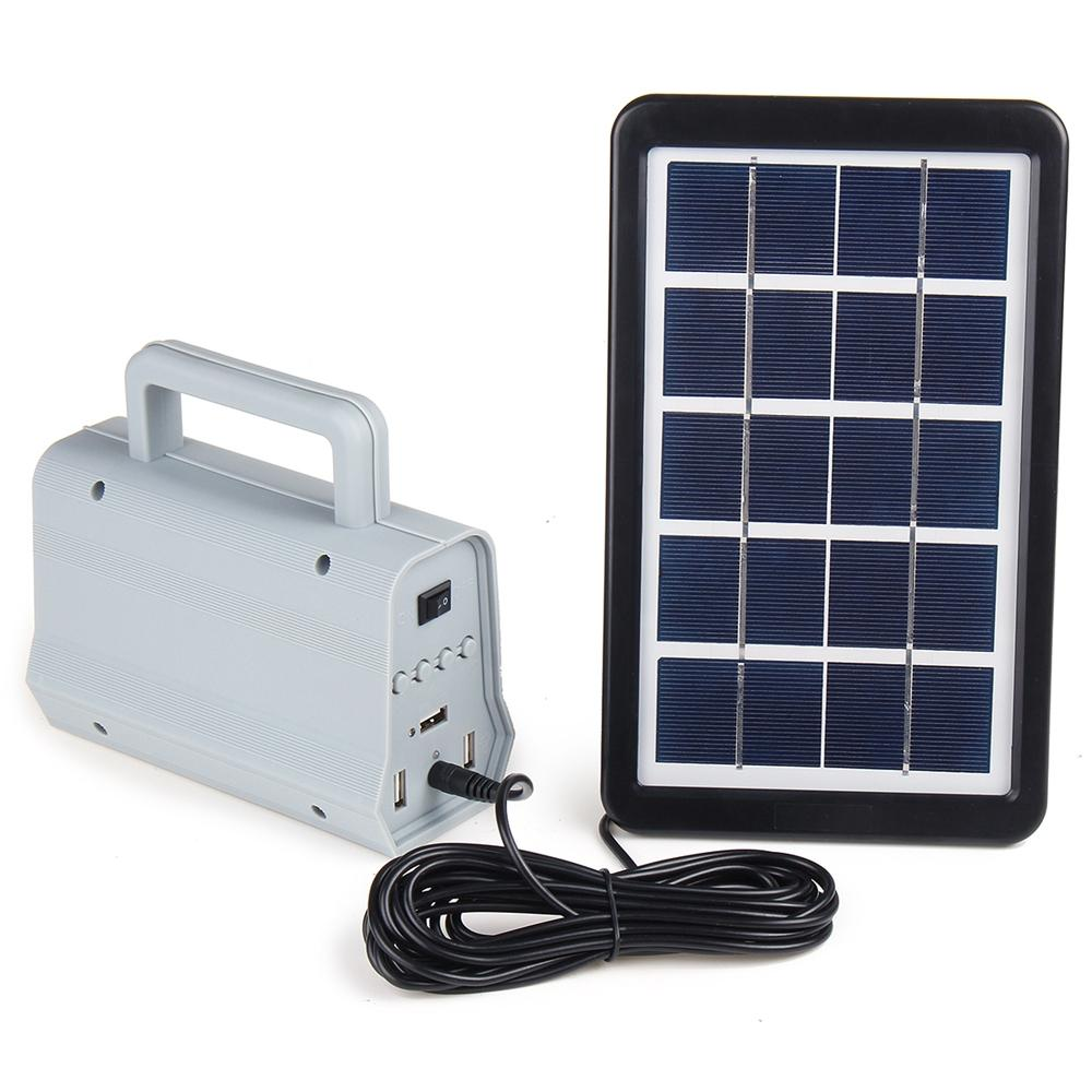 Skyorium™ USB Solar Generator Home DC System Kit with 2 LED Light Bulb Emergency Lamp For Outdoors and Camping