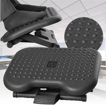 Skyorium Adjustable Tilting Footrest Under Desk Ergonomic Office Foot Rest Pad Footstool Foot Pegs