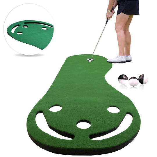 Best Indoor Grass Par Three Putting Green (9-ft x 3-ft) Made in USA
