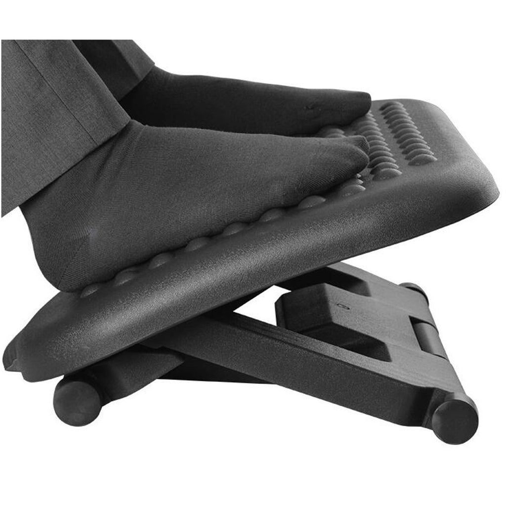 Skyorium™ Adjustable Tilting Footrest Under Desk Ergonomic Office Foot Rest Pad Footstool Foot Pegs