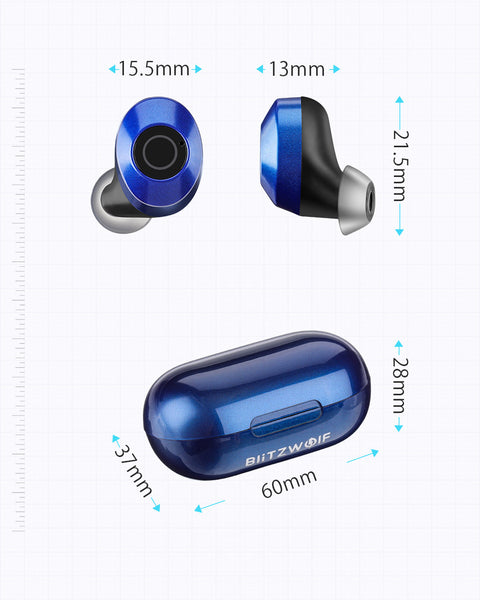Skyorium™ Wireless Bluetooth 5.0 Headset Stereo Noise Cancelling Earbuds