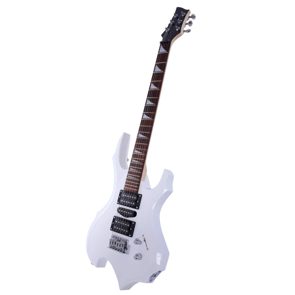 Flame Type Beginner Electric Guitar Complete Guitar Setup color white