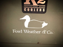 Fowl Weather & Co. Logo Clear Sticker