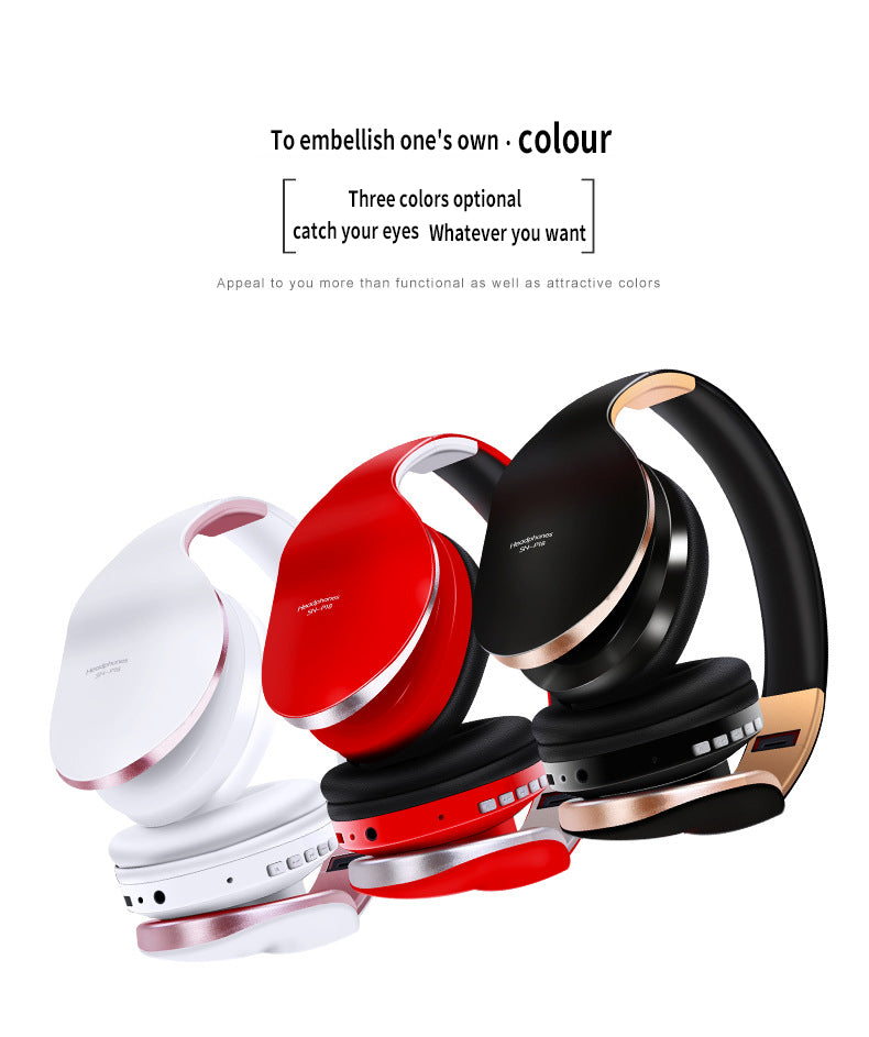 Nisheng Wireless Bluetooth Headphones Noise Cancelling Headset Foldable Stereo Bass Sound Adjustable Earphones With Mic For PC All Phone