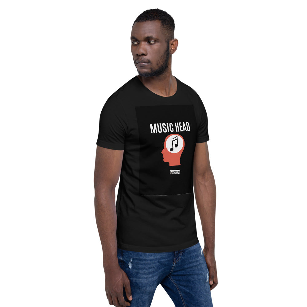 "Musicseur: True Connoisseur ""Music Head"" Short-Sleeve Unisex T-Shirt"