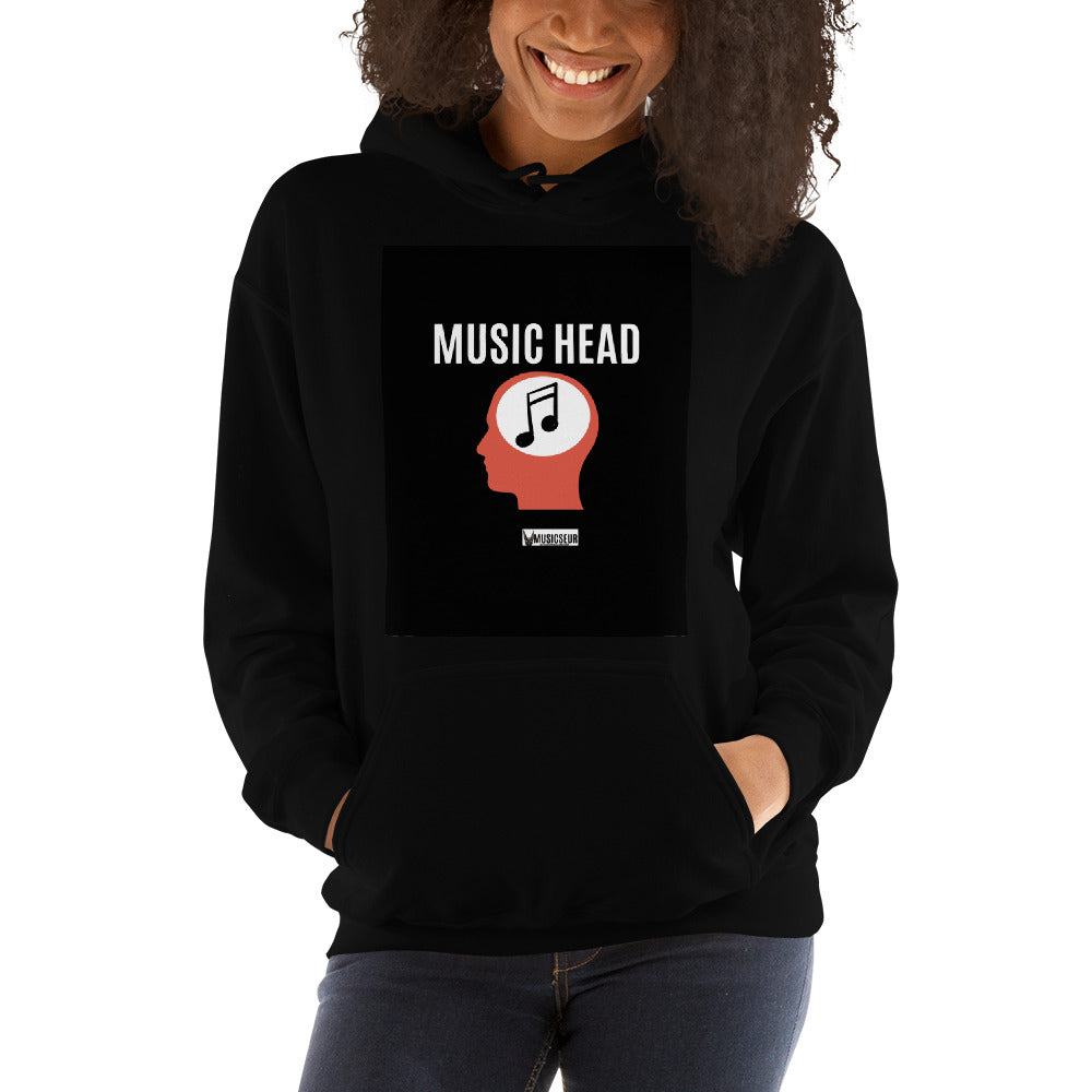 "Musicseur: True Connoisseur ""Music Head"" Unisex Hoodie"