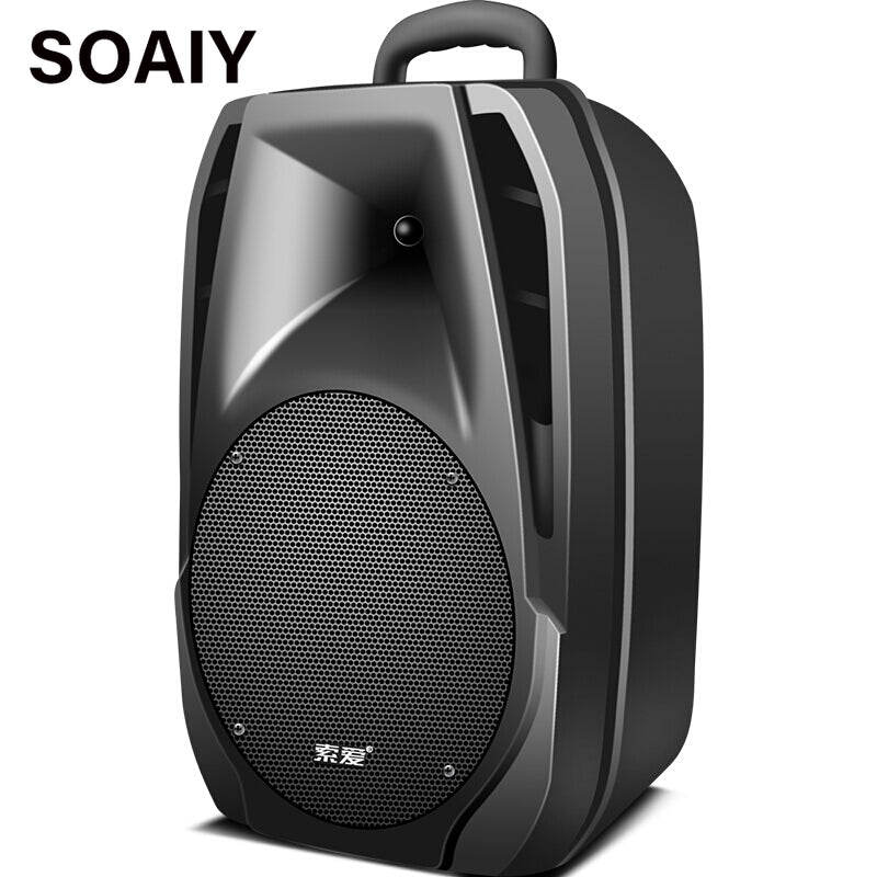 2019 Portable Outdoor Trolley Speakers 8 Inch Wireless Bluetooth Speaker Big Horn Subwoofer Stereo Home Party DJ Speakers T7