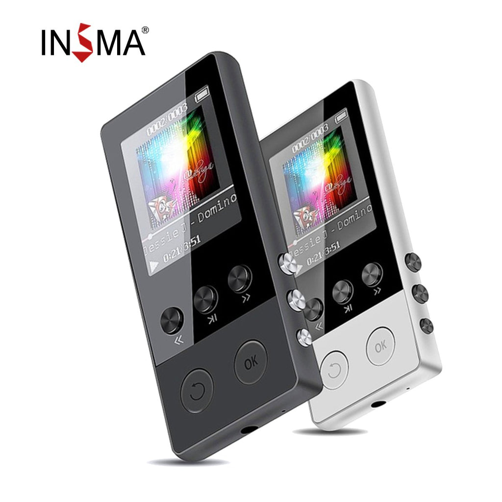 INSMA 128GB bluetooth MP3 Player Earphones HiFi FM Radio Sport MP 4 HiFi Portable Music Players Voice Recording Recorder TF Card