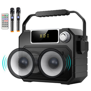 Newsmine A113 Outdoor Speaker Bluetooth Remote Controller Wireless Portable Square Dual Microphone Party Recording TF Subwoofer