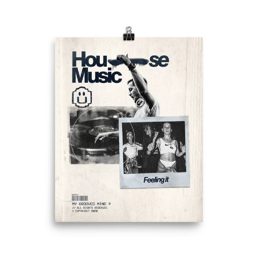 House Music Culture Poster (8x10 in)