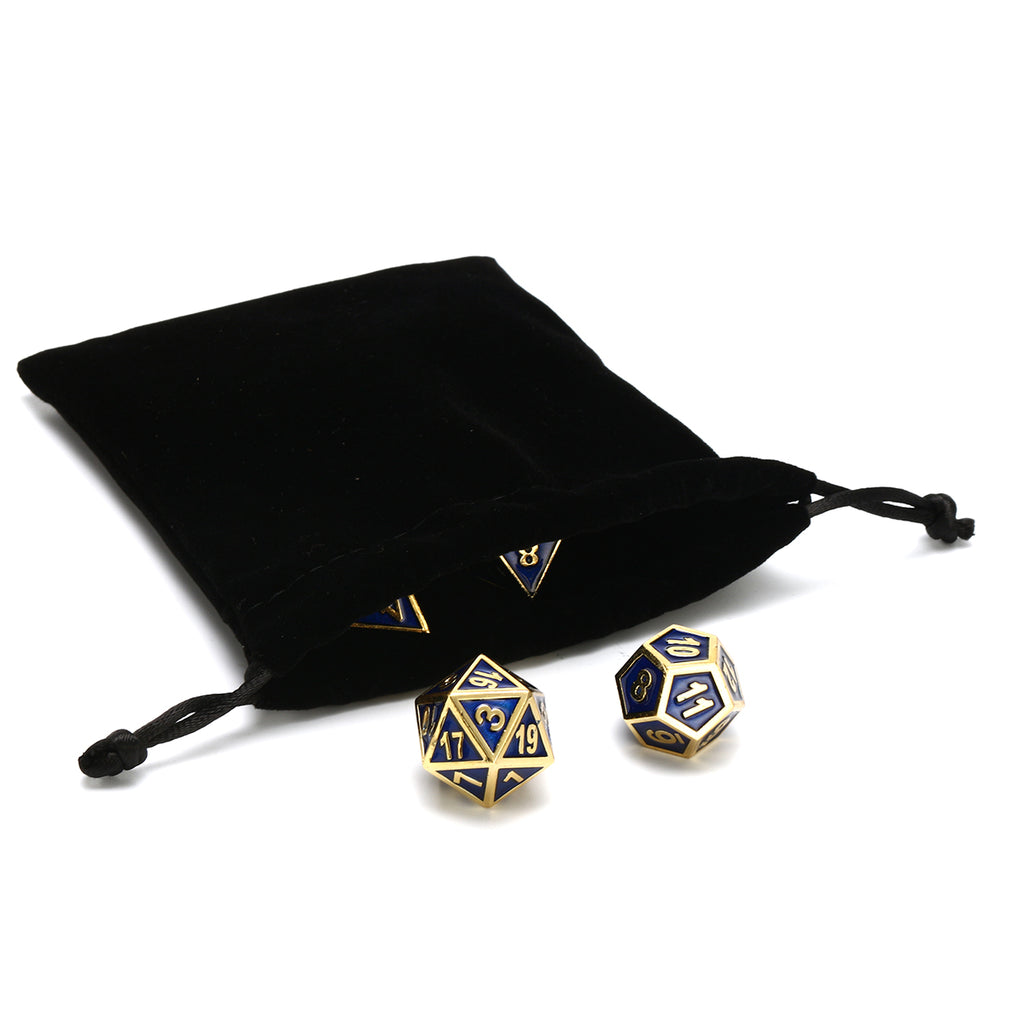 Games2GO™ Antique Color Solid Metal Polyhedral TRPG Multi Purpose Dice