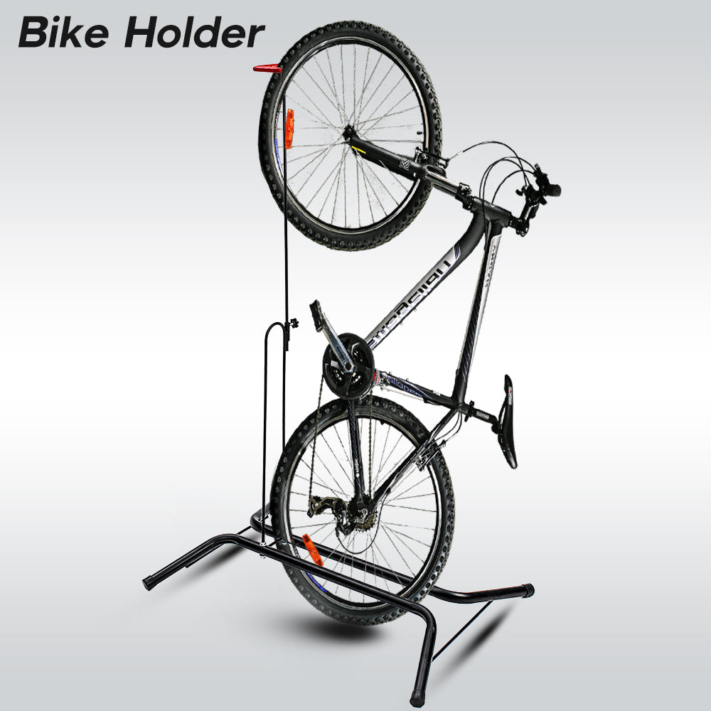 OutdoorXTREME™ Bicycle Storage Holder Fold Up Vertical Bike Rack Universal Biking Accessory