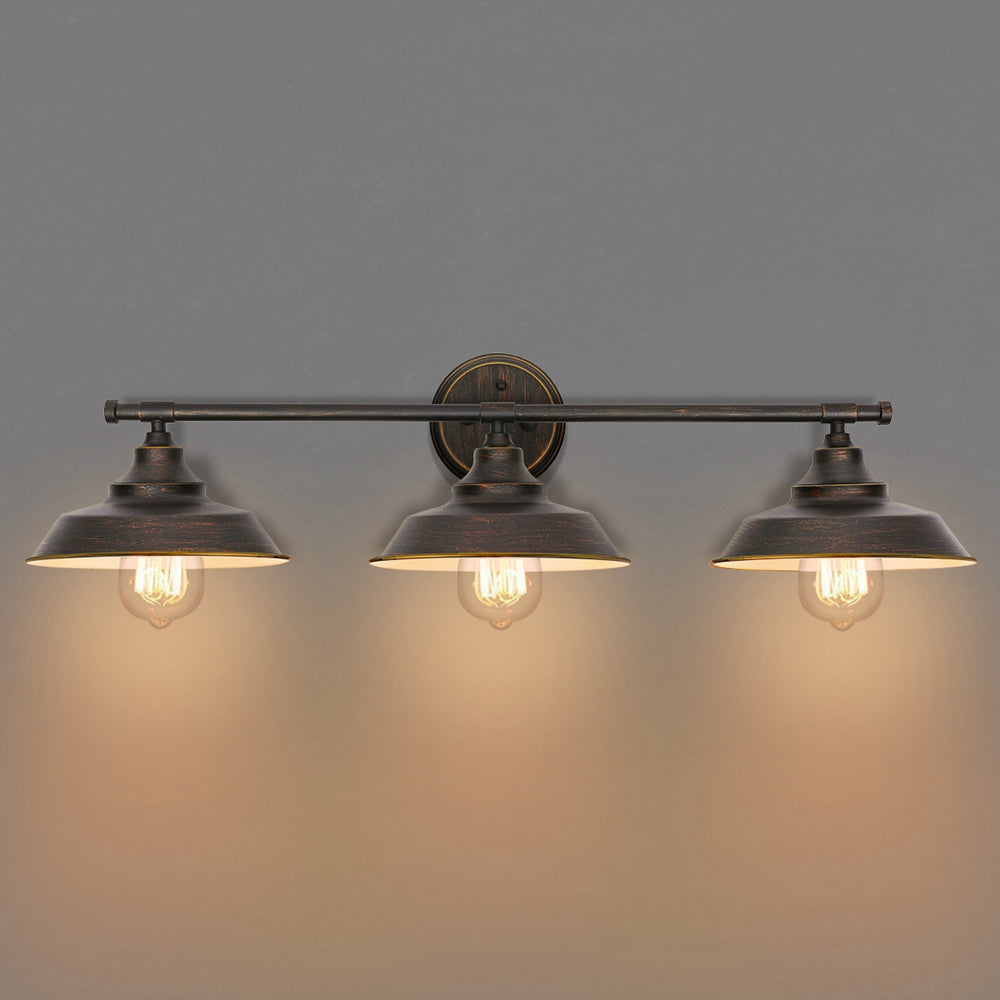TodaysHOME™ Modern Industrial 3 Light Bar Wall Sconce Vanity Bathroom Fixture