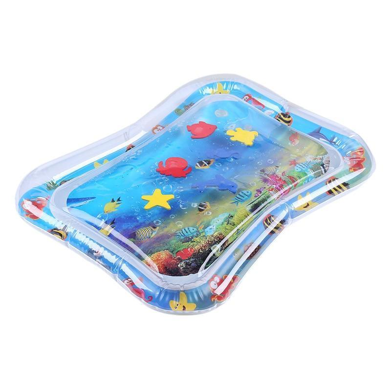 Baby Tummy Time Fun Inflatable Water Play Mat Toy