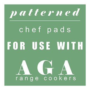 Patterned Chef Pads for Aga range cookers at the Chef Pad Shop