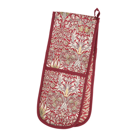 Morris & Co Snakeshead Claret Double Oven Glove - The Chef Pad Shop
