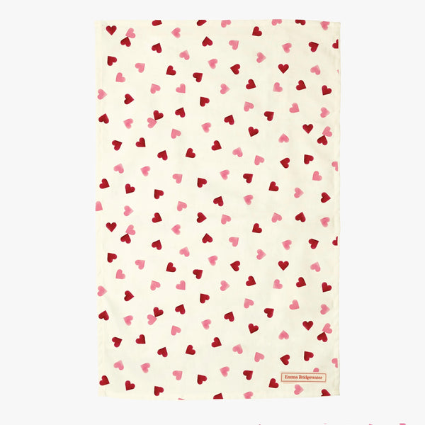 Emma Bridgewater - Pink Hearts Oven Glove & Tea Towel Gift Set - The Chef Pad Shop