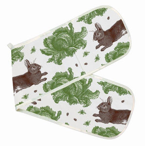 Thornback & Peel - Double Oven Glove - Rabbit & Cabbage - The Chef Pad Shop